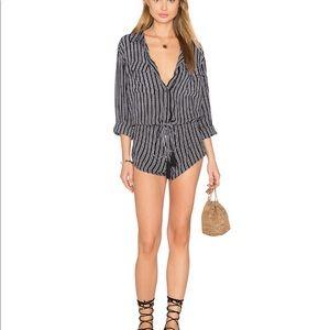 d0b3462153b Indah Pants - Indah Black White Stripe Romper. Size  S.